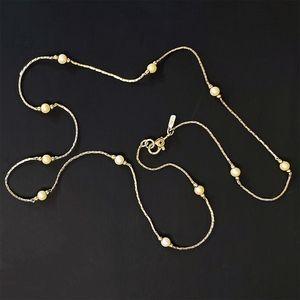 💄Vintage💄Monet Delicate Pearl & Gold Necklace